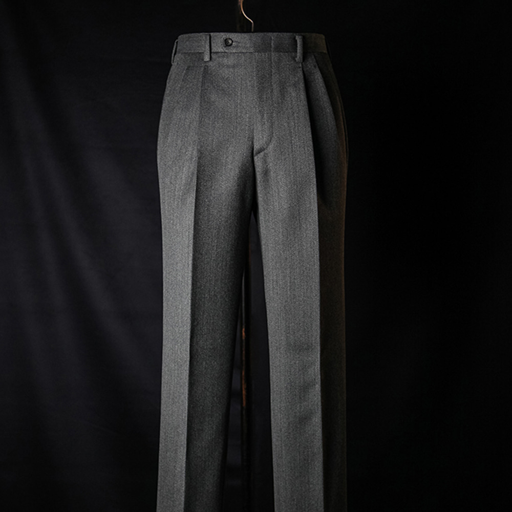 B&TAILOR RTW CAVALRY TWILL Trousers - grey