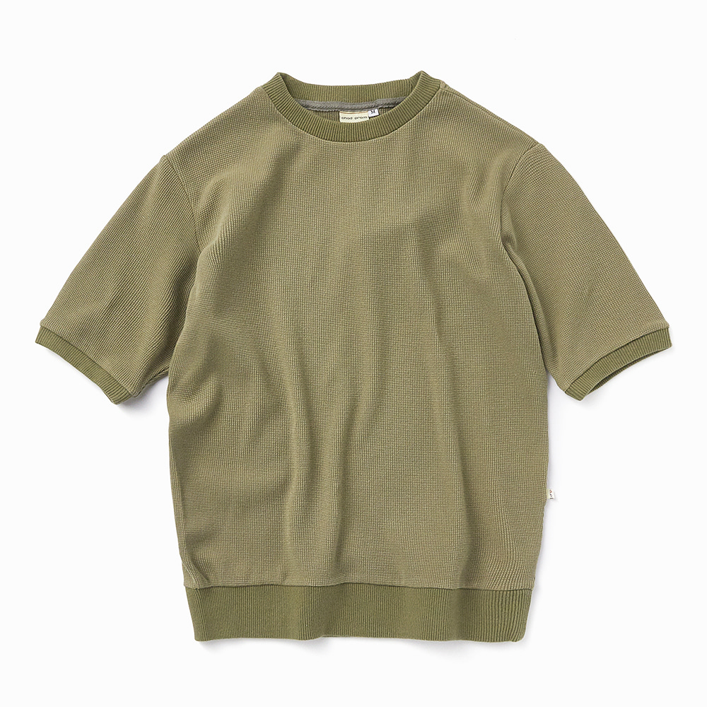 Chadprom waffle 1/2 T-shirt- Olive