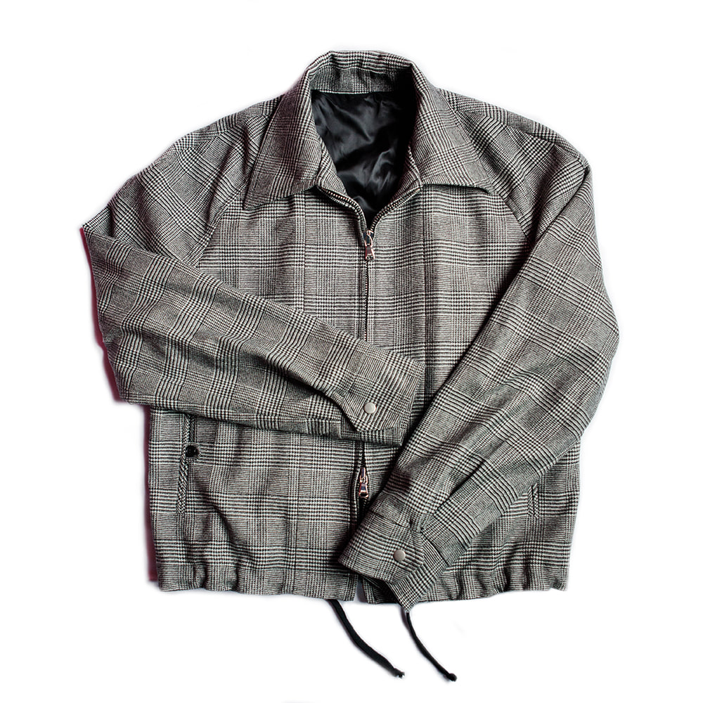 Crop Bomber Jacket (Glen Check)