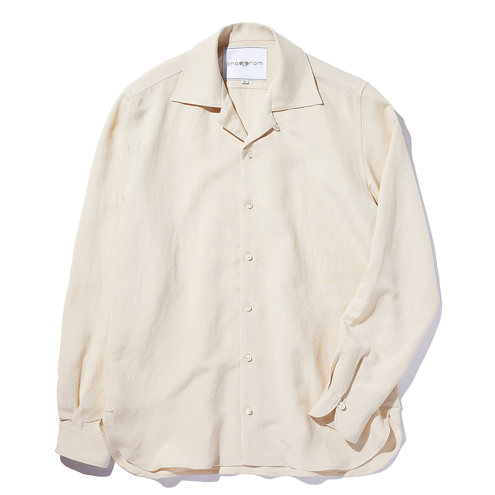 Chad Prom Linen & Rayon Shirt Beige