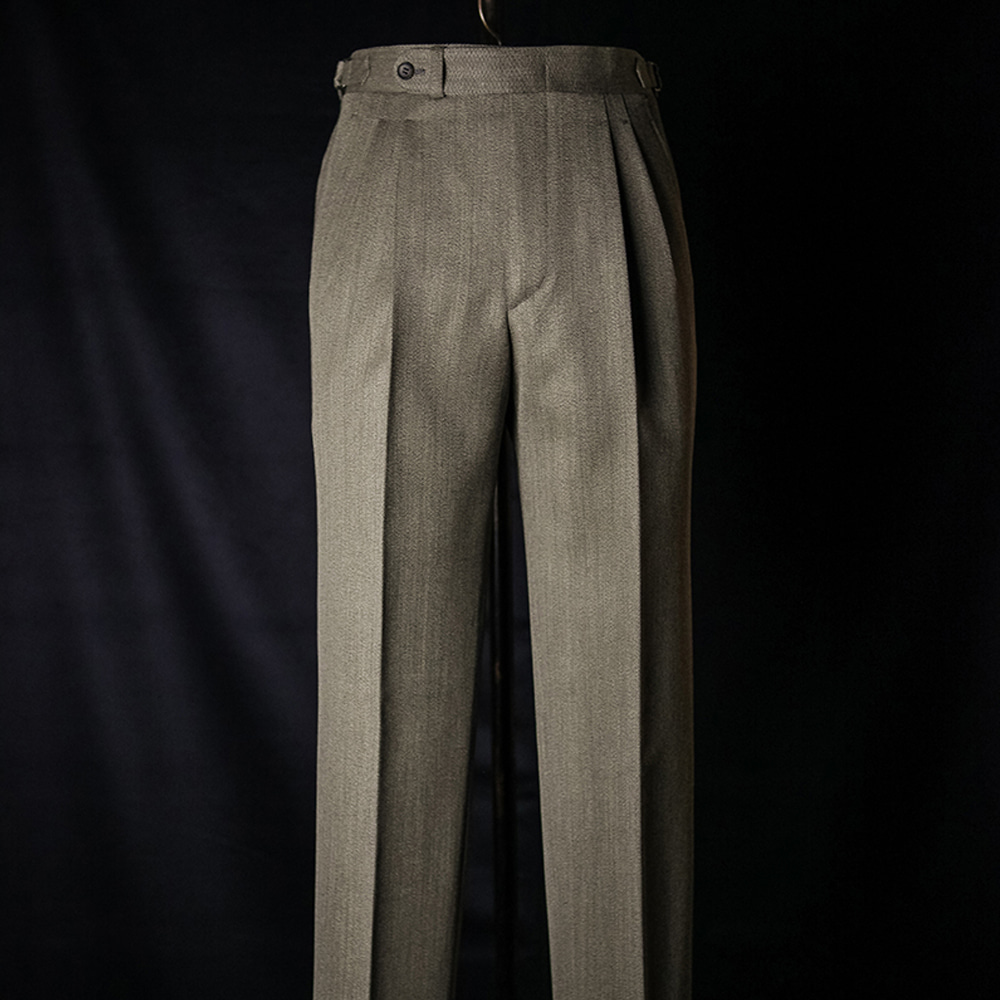B&TAILOR RTW CAVALRY TWILL Trousers - light brown