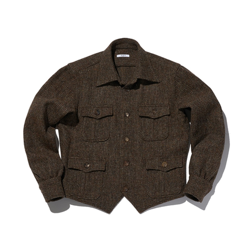 "B&TAILOR ""V JACKET"" BROWN"