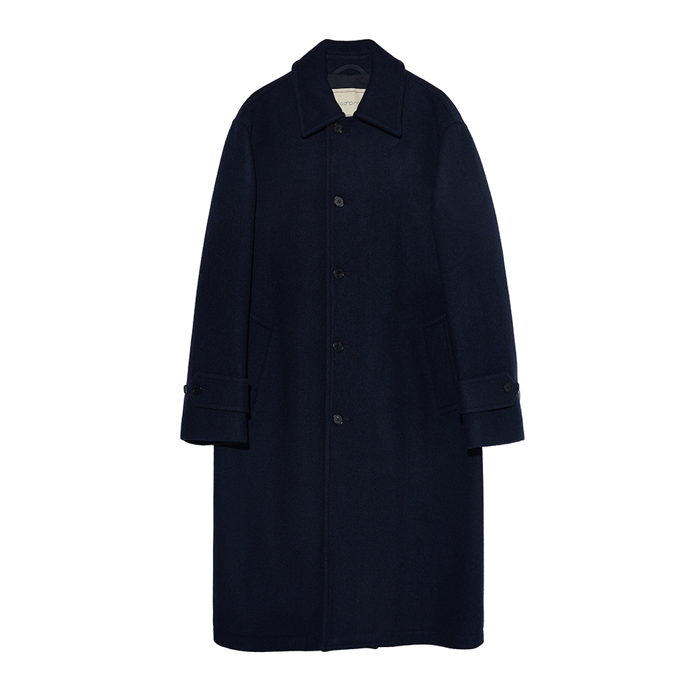 Heavy wool Single coat - Navy