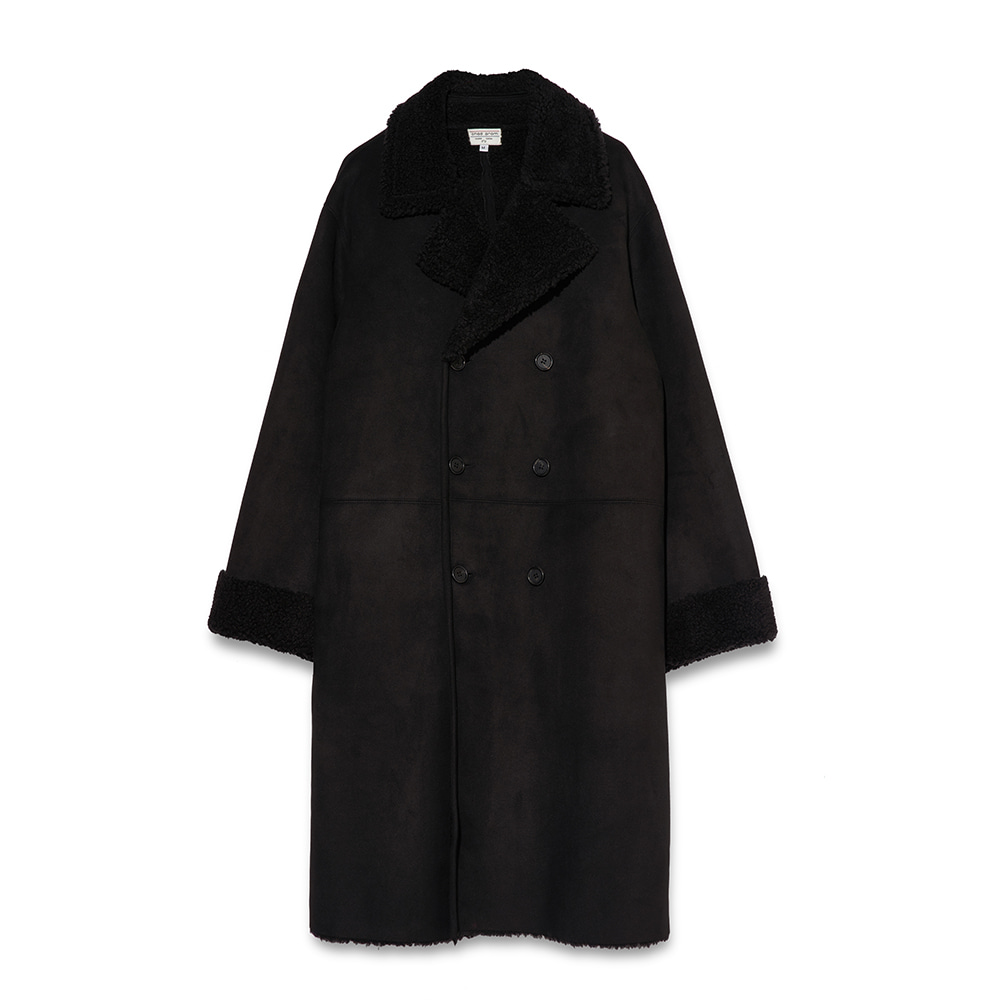 Suede coat - Black